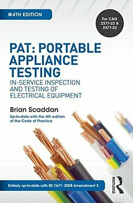 £45.13 • Buy PAT: Portable Appliance Testing: In-Service Inspection And Testing Of Electrical