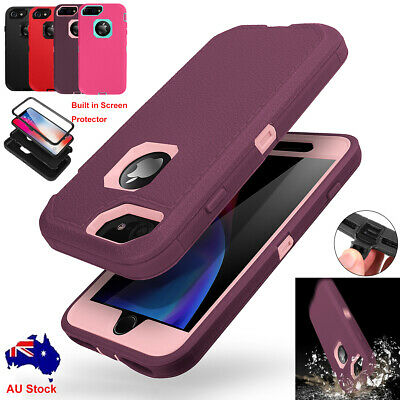 AU14.95 • Buy For IPhone 7 8 6s Plus Hybrid Shockproof Heavy Duty Case Cover Screen Protector