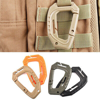 £2.38 • Buy Plastic D-Ring Clip Hook Buckle Keychain Camping Mountaineering Carabiner