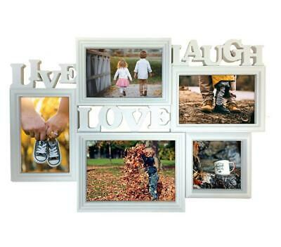 £9.99 • Buy Multi Photo Frame Family Live Love Laugh Collage Picture Frame Wall Hanging