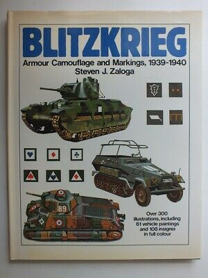 £14 • Buy Blitzkrieg: Armour Camouflage And Markings, 1939-1940
