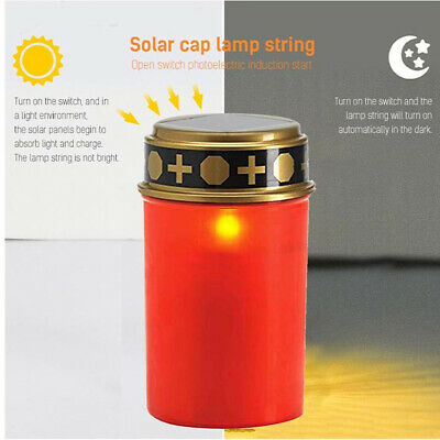 £7.69 • Buy Solar Energy LED Grave Light Waterproof Electronic Glowing Candle Lamp Camping