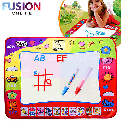 £7.79 • Buy Doodle Mat Kids Toy Water Drawing Writing Painting Mat Board With 2 Magic Pens