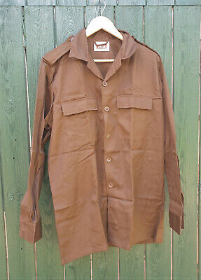 £34.99 • Buy South African Nutria Brown Long Sleeved Shirt Xl - 112cm - New