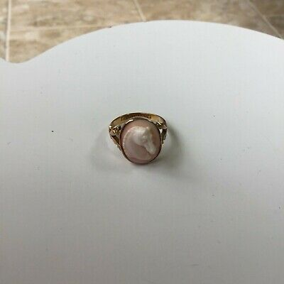 £250 • Buy Vintage Horse Head Cameo Ring, Excellent Condition