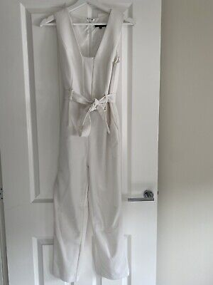 AU23.62 • Buy New Look Womens White Jumpsuit Size 8