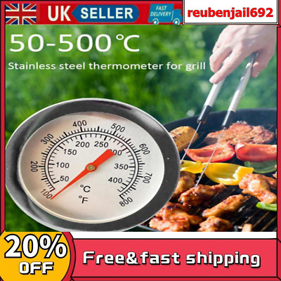 £4.05 • Buy UK 50-500℃ BBQ Barbecue Grill Steel Temperature Thermometers Gauges
