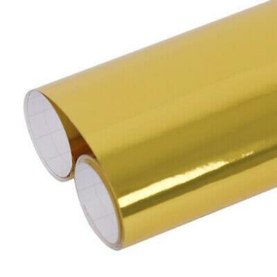 £9.49 • Buy Chrome Gold Sign Making Vinyl - Sticky Back Plastic - Sheets Or By Meter Mirror