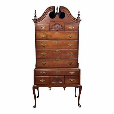 $6975 • Buy Antique Mahogany Chippendale Bonnet-Top Highboy