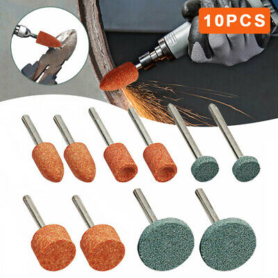 £3.09 • Buy 10PC ROTARY TOOL GRINDING STONE SET DIY Craft Drill Bits For Metal Steel