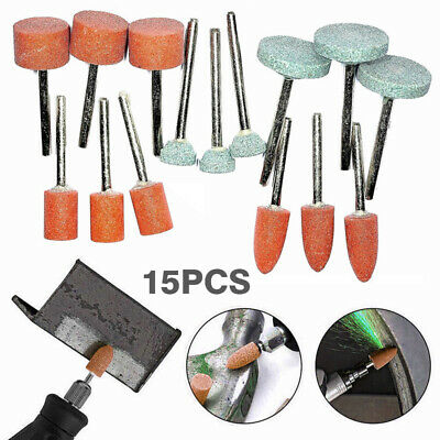 £3.85 • Buy 15x ROTARY TOOL GRINDING STONE SET DIY Craft Drill Bits For Metal Steel