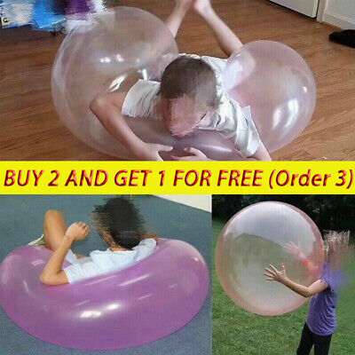 £8.49 • Buy Inflatable Ball Water Balloon Giant Bubble Beach Pool Giant Ball Rubber Toy