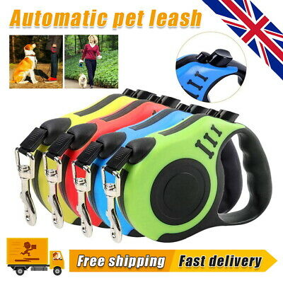 £8.99 • Buy Durable Dog Leash Retractable Nylon Lead Extending Puppy Walking Running Leads