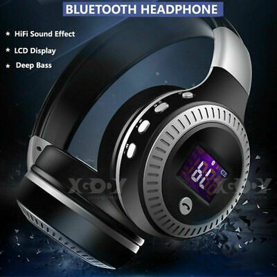 £16.99 • Buy Wireless Bluetooth Headphones With Noise Cancelling Over-Ear Stereo Earphones UK