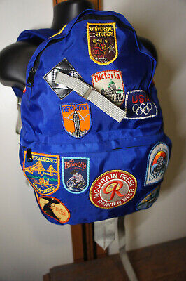 £26.90 • Buy Vintage 80's Patch Covered Beer Patch Budweiser Rainier Disney Olympic Backpack