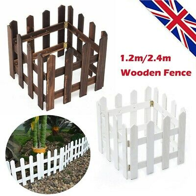 £11.65 • Buy 4/8 Pack Wooden Border Edge Garden Patio Edging Picket Fence For Landscape Lawn