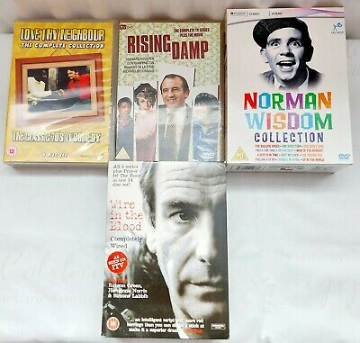 £26.80 • Buy Lòve Thy Neighbour,  Rising Damp, Norman Wisdom & Wire In The Blood Dvd Box Sets