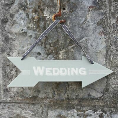 £3.26 • Buy Wedding Arrow Direction Sign | East Of India Vintage Party Direction