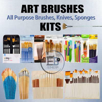 £31.85 • Buy Paint Brushes For Watercolor / Oil / Acrylic Painting Lot Artist Quality Set Art