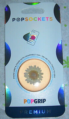 AU16.55 • Buy PopSockets Phone Grip Stand PRESSED FLOWER DAISEY WHITE PopGrip Swappable Top