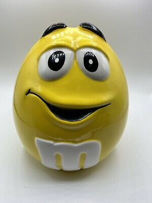 $23 • Buy M&M Collectible Cookie Jar Yellow Excellent Shape