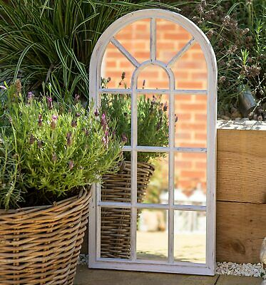 £39.89 • Buy Large Arched Window Arch Mirror Brushed Grey Vintage Indoor Outdoor Wall Mount