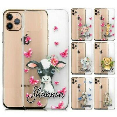 AU13.28 • Buy Personalised Phone Case For Xiaomi/oppo, Initial Cow Print Clear Hard Cover