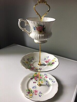 £12 • Buy Vintage Cake Stand With Cup  Wedding / Tea Party