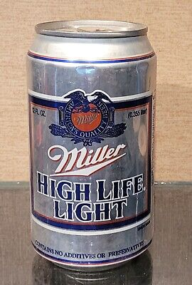 $4 • Buy 1990s Aluminum Bottom Open Miller High Life Light Stay Tab Beer Can Milwaukee Wi