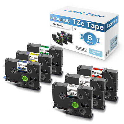 £16.59 • Buy 6PK Compatible Brother TZe-131-731 TZe231 Label Tape 12mm For P-touch 1000 H101C