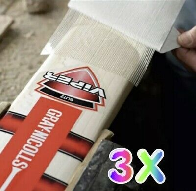 £3.99 • Buy 3️⃣x Cricket Bat Sheet Anti Scuff Protection Safety Fibre Durable Quality