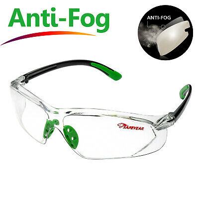 £12.99 • Buy SAFEYEAR Safety Glasses Work Goggles Anti-Fog Anti-Scratch UV-Protection Sports