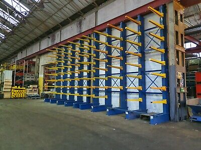 £750 • Buy Cantilever Racking 1 Stand Alone Bay 9m Tall With 8 Arms Per Leg