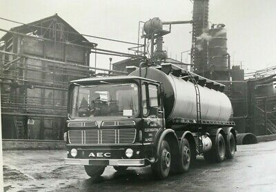 £2.49 • Buy AEC Tanker -Lorry - Yorkshire Tar -  Black And White  Company Photograph.