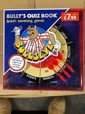 £7.99 • Buy Bullseye Quiz Game And Book TV Family Fun With Magnetic Darts And Board Inside