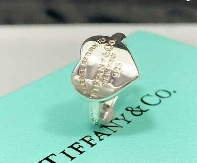£120.95 • Buy Tiffany & Co. Sterling Silver 925 Please Return To Heart Ring Band US5 NO BOX