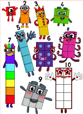 £9.99 • Buy NumberBlocks Number Blocks Wall Stickers - 5 Sizes Available