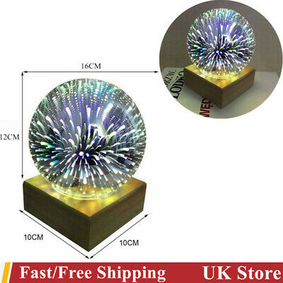 £13.99 • Buy Nordic 3D Colorful Firework Crystal Glass Cover Lamp Bedside Night Light Bedroom
