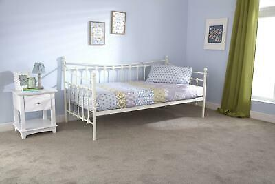 £109.99 • Buy 3Ft Single Day Bed Frame Only Steel Ivory Powder Coated Finish Guest Spare Bed