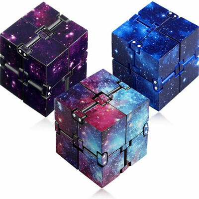£2.99 • Buy Infinity Cube Stress Fidget Autism Anxiety Relief Kids Adult Toys Relax