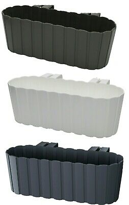 £8.99 • Buy Double Fence Planters Garden Outdoor Pots Hanging Baskets 5 Litre Strong