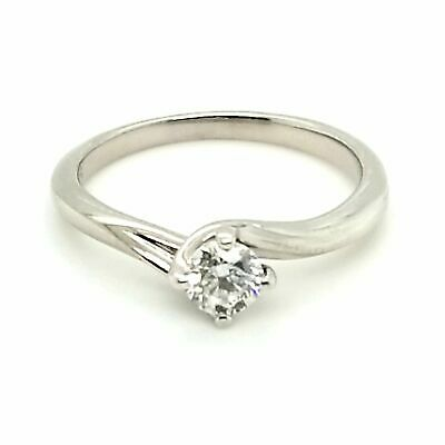 AU799 • Buy 9ct WHITE GOLD DIAMOND SOLITAIRE RING VALUED @ $1499