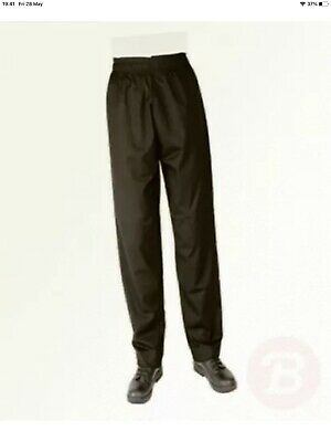 £15 • Buy Whites Chefs Apparel A582-L Vegas Chef Trousers, Black