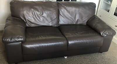 £100 • Buy Brown 3 Seater Leather Sofa