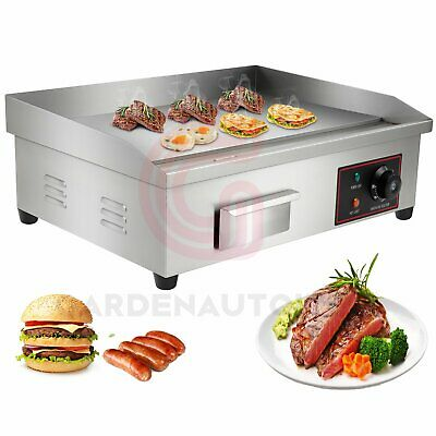 £85.99 • Buy 3000W Commercial Electric Stainless Steel Griddle Grill Flat 21In Hot Plate Area