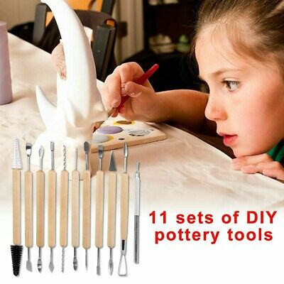 £5.99 • Buy 11PCS Polymer Clay Tools Set Modelling Sculpting Tool Pottery Model Art Projects