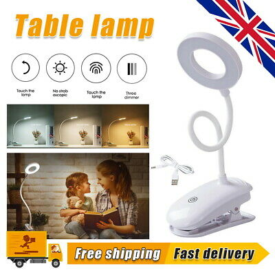 £6.89 • Buy USB Flexible Clamp Clip On LED Light Reading Table Desk Bed Bedside Night Lamp