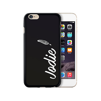 AU15.66 • Buy Hairyworm Personalised White Feather Name On Black Silicone Gel Phone Case