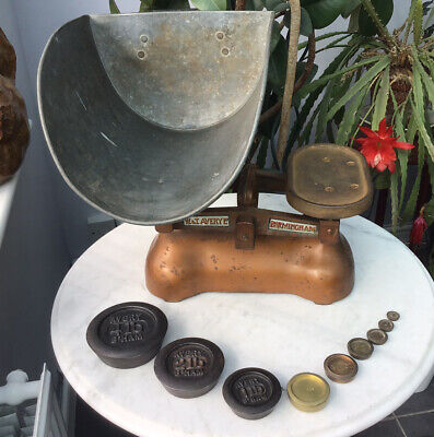 £49.99 • Buy Vintage 1930'S Avery Greengrocers Potato Weighing Scales To Weigh 14LB & Weights