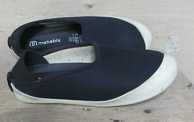 $24 • Buy Mahabis Navy Breath  Summer Slippers W/Removable Soles   Size 38  /  7.5-8